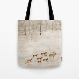 Tote Bag - a new home for winter - bri.buckley