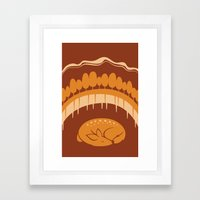 Fawn Framed Art Print