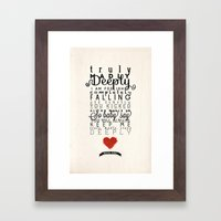 One Direction: Truly Madly Deeply Framed Art Print