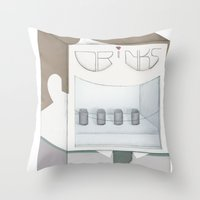 Friendly Vending Machine Throw Pillow