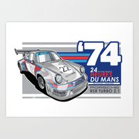 PORSCHE - 911 RSR GROUP … Art Print