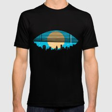 Eye On The City Black SMALL Mens Fitted Tee