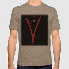 V for Vendetta (e6) Mens Fitted Tee Tri-Coffee SMALL
