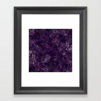 Purple Garden Framed Art Print