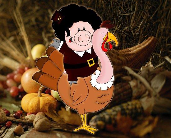 Thanksgiving turkeys Canvas Print
