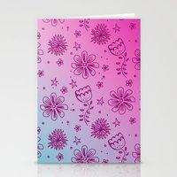 Summer Flower pattern Stationery Cards