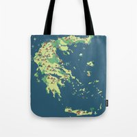 MAP OF GREECE Tote Bag