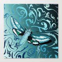 Tangled Moth Canvas Print