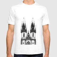 Tyn Church - Prague White Mens Fitted Tee SMALL