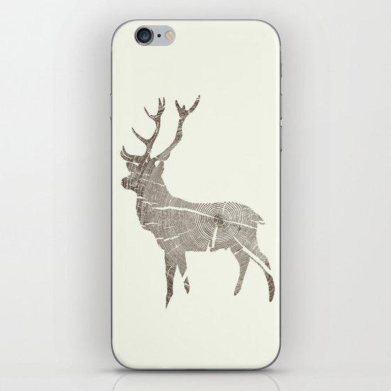 Wood Grain Stag iPhone & iPod Skin