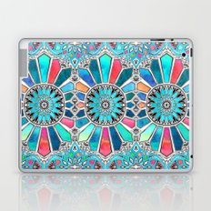Iridescent Watercolor Brights on White Laptop & iPad Skin