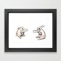 Bunnies with Guns Framed Art Print