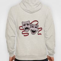 Comedy And Tragedy Theater Masks Hoody