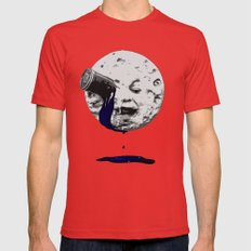 A Trip To The Moon Mens Fitted Tee Red SMALL