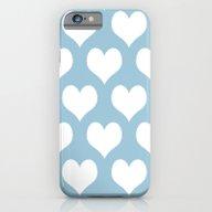 Hearts Aquamarine iPhone 6 Slim Case