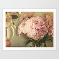 Painted Peonies -- Botanical Still Life Art Print