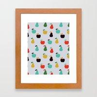 Apples + Pears Framed Art Print