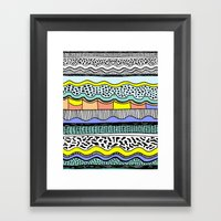 NATIVE WAVES Framed Art Print