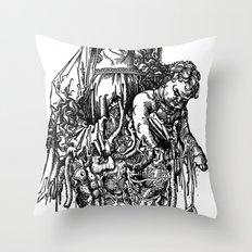 Santa De Carne Throw Pillow