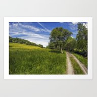 Art Print featuring Old Summer Country Road by Ian Mitchell