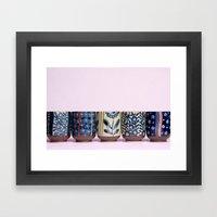 Japanese teacups Framed Art Print