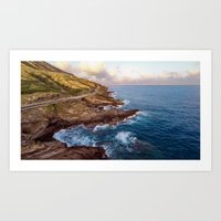 The Ka Iwi Coastline Art Print