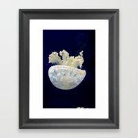 Falling Jellyfish Framed Art Print