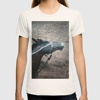 Horse Womens Fitted Tee Natural SMALL