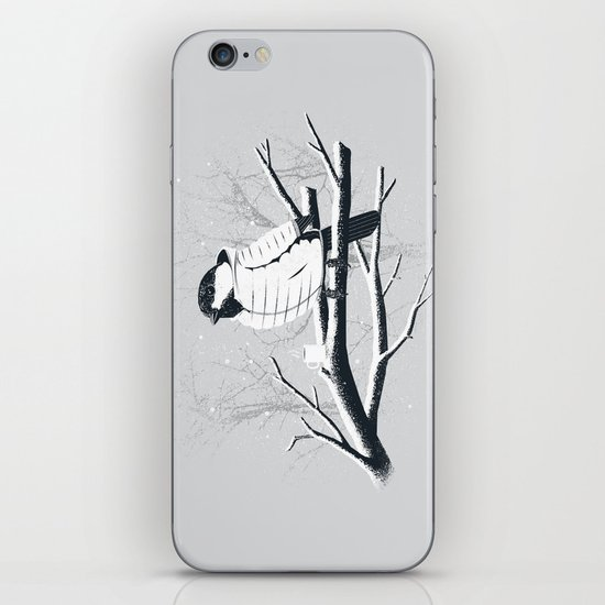 North For The Winter (Gray). iPhone & iPod Skin