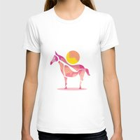 Horse Womens Fitted Tee White SMALL