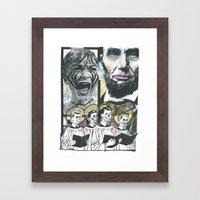 Psycho Lincoln Framed Art Print