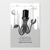 Squid Canvas Print