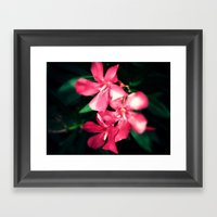 Pink Flowers Revamped Framed Art Print