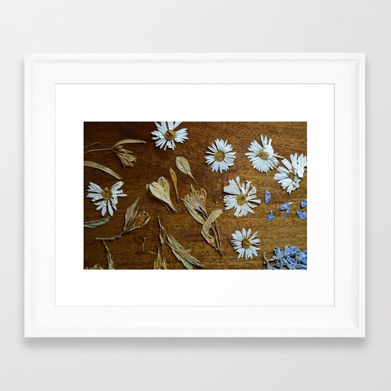 dried flowers Framed Art Print