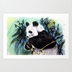 Panda forest Art Print