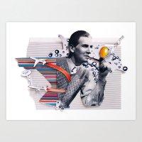 Hot Air | Collage Art Print
