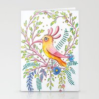 Serious Bird Stationery Cards