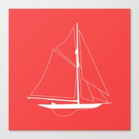 Nautical Boat Canvas Print