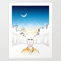 In Search Of Other Sunri… Art Print