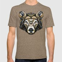 Bear Mens Fitted Tee Tri-Coffee SMALL