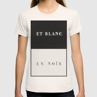 Et Blanc En Noir Womens Fitted Tee Natural SMALL