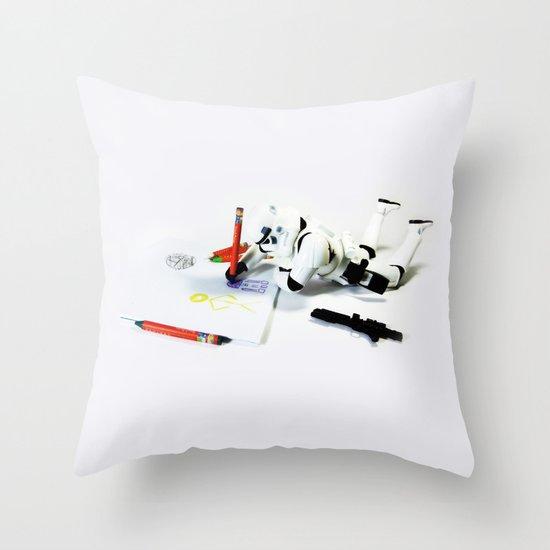 Drawing Droids Throw Pillow
