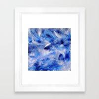 Blue Plumes Framed Art Print