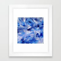 Blue Plumes Framed Art Print