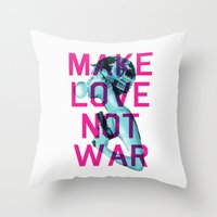 Make Love Not War Throw Pillow