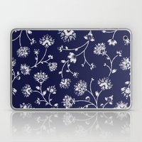Indigo Floral Trail Laptop & iPad Skin