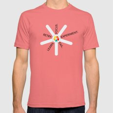 The way to success Mens Fitted Tee Pomegranate SMALL