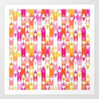 Geostripe Art Print