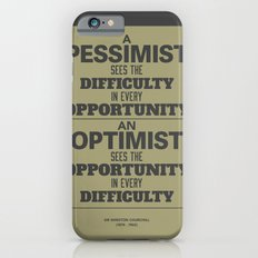 Pessimist / Optimist iPhone 6 Slim Case