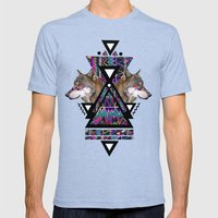 ADAHY  Mens Fitted Tee Tri-Blue SMALL